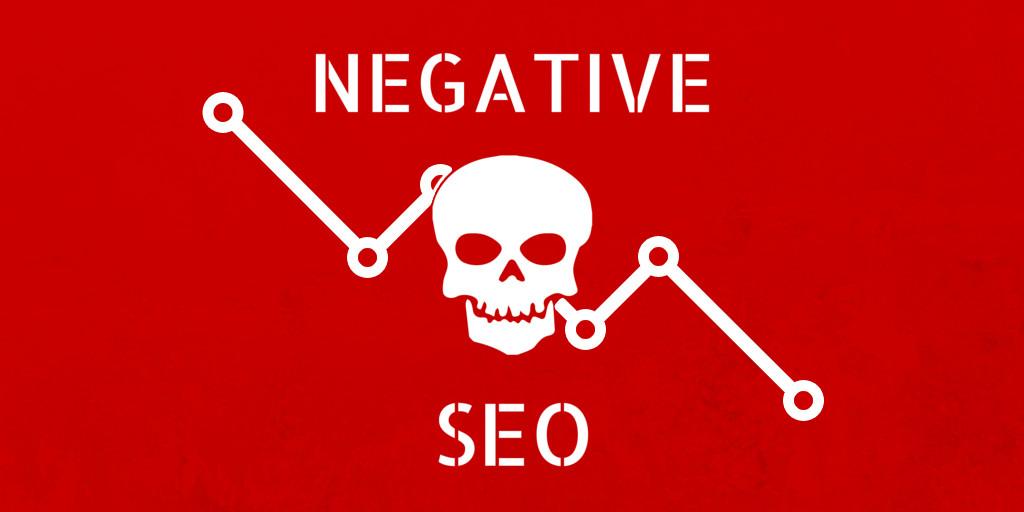 negative SEO with skull