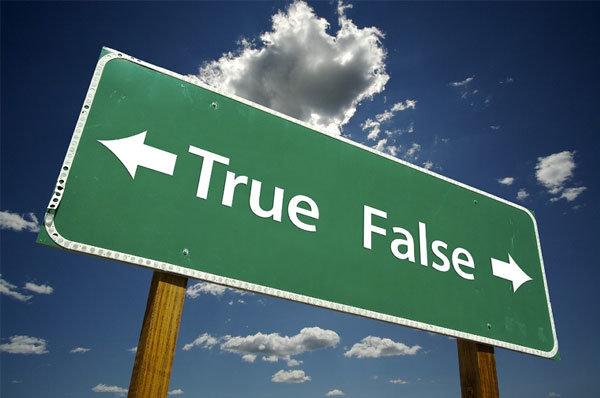 true or false sign