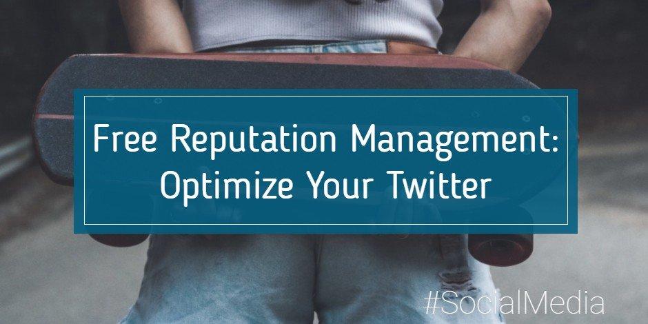 reputation management on twitter